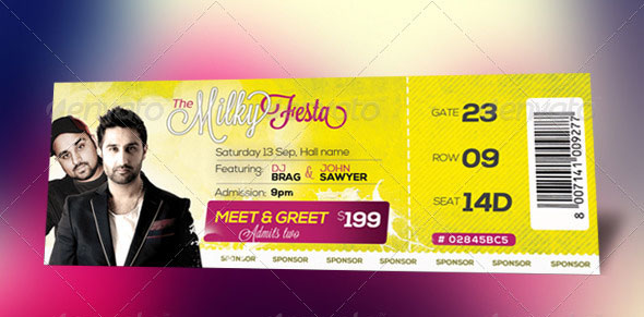 25 Awesome Ticket Template Designs print iDesignow - party tickets templates
