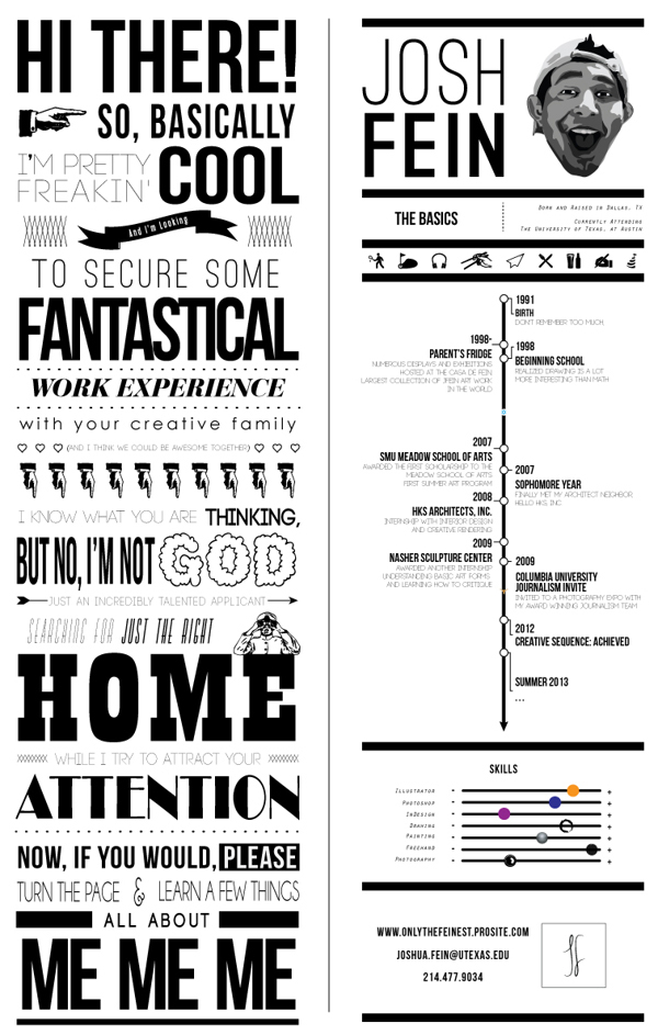 50 Awesome Resume Designs That Will Bag The Job - iDevie - cool looking resumes