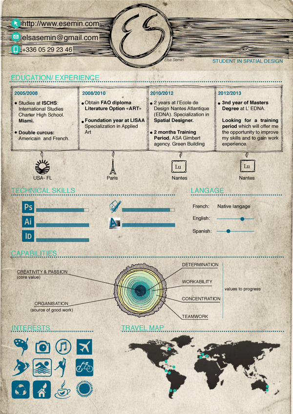 50 Awesome Resume Designs That Will Bag The Job - iDevie