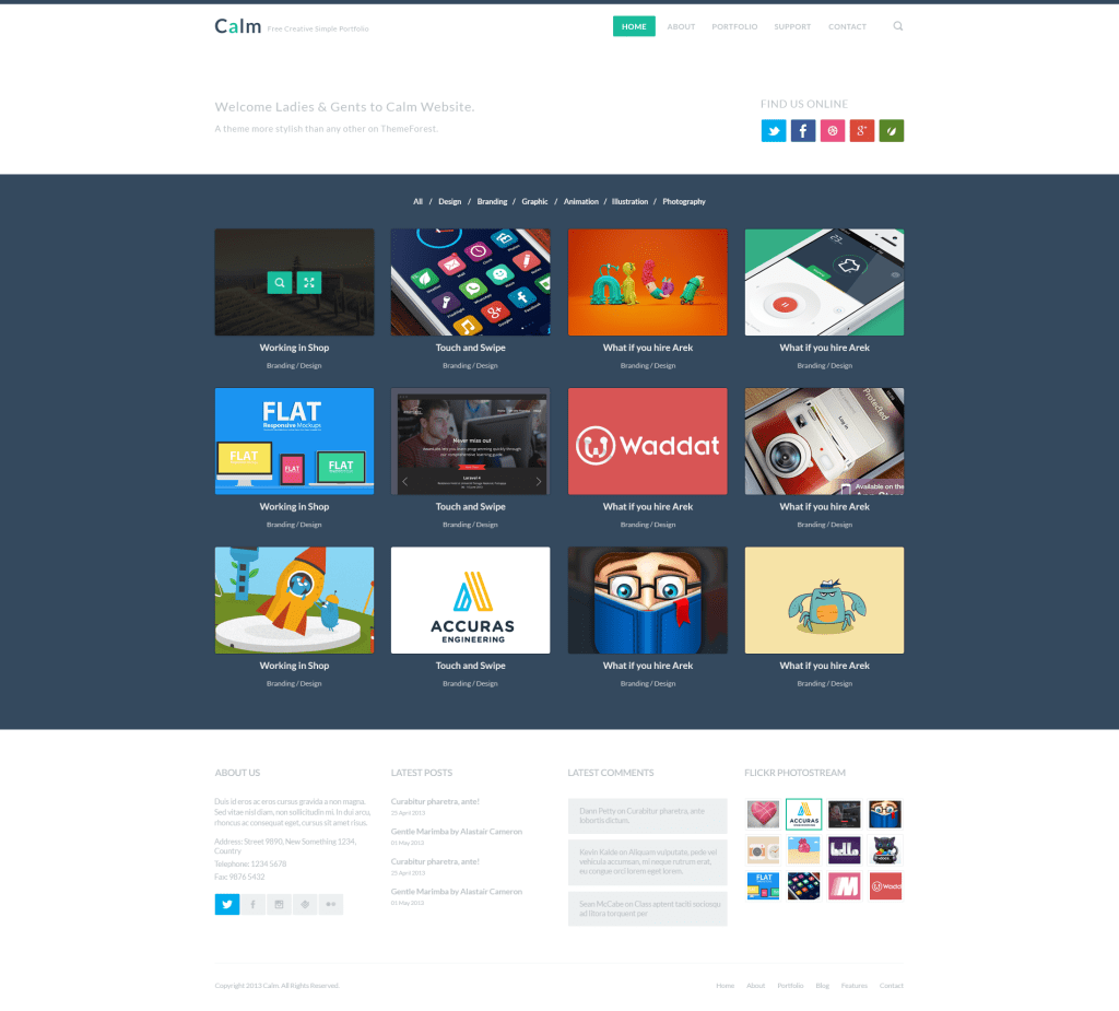 cv website template html free