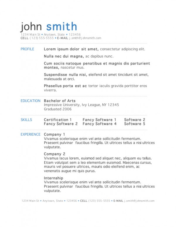 The Best Resume Templates Available - iDevie