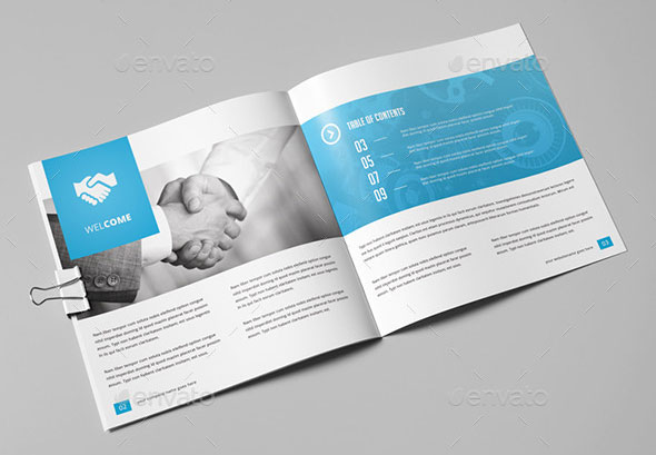 21 Striking Square Brochure Template Designs - iDevie - product brochure template