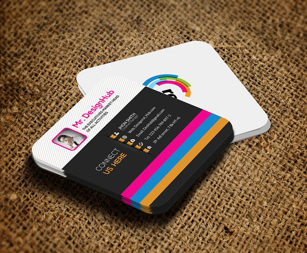 22 Mini Square Business Card PSD Templates Design - iDevie - business card template design