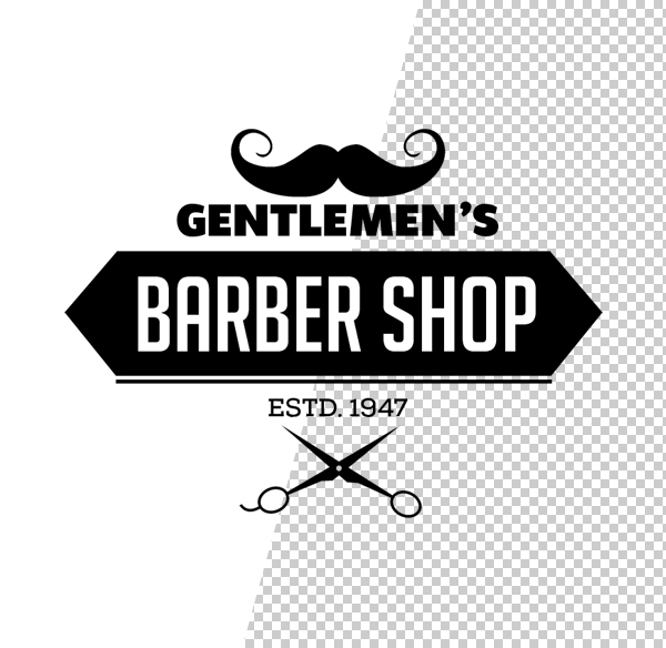 Free Vintage Barber Shop Logo Templates (PSD) - iDevie - text logo template