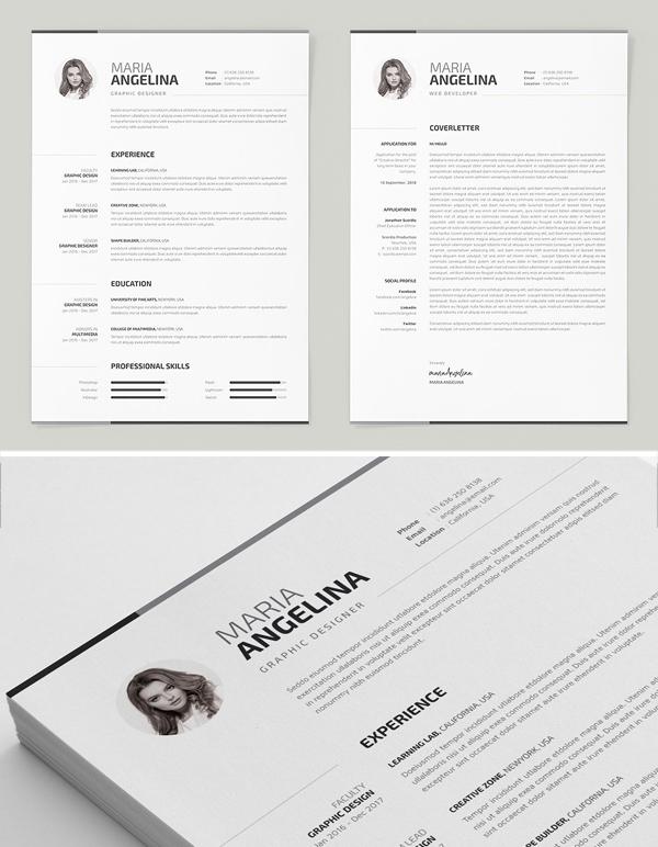 35 Best Minimal CV Resume Templates - iDevie