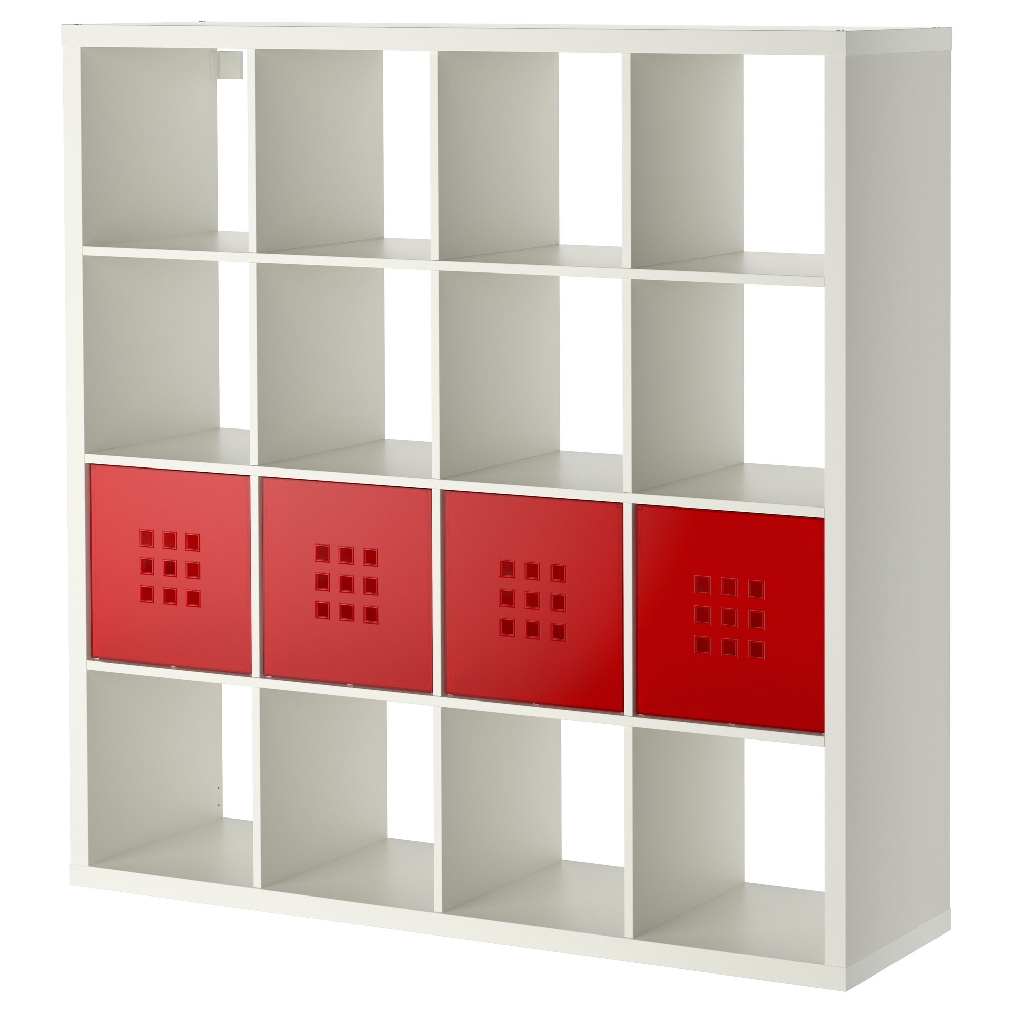 Armoire Cube Ikea Kallax Lekman Shelving Unit With 16 Compartments White 147x39x147