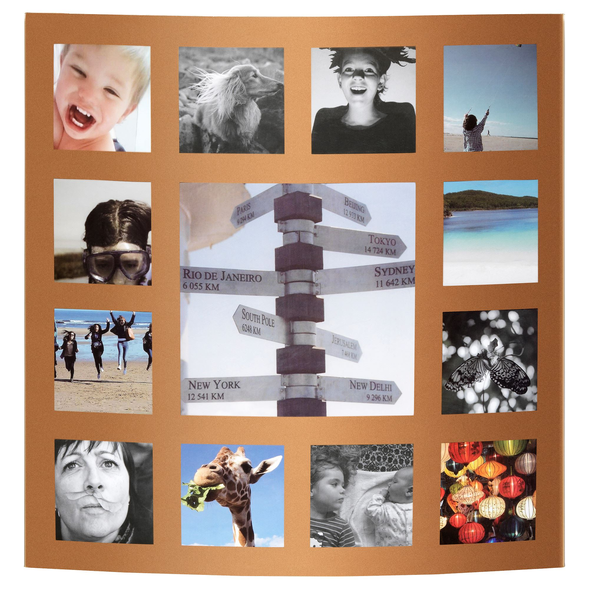 Collage Fotos Gudby Collage Frame Golden Colour 43x43 Cm Ikea Home Decoration