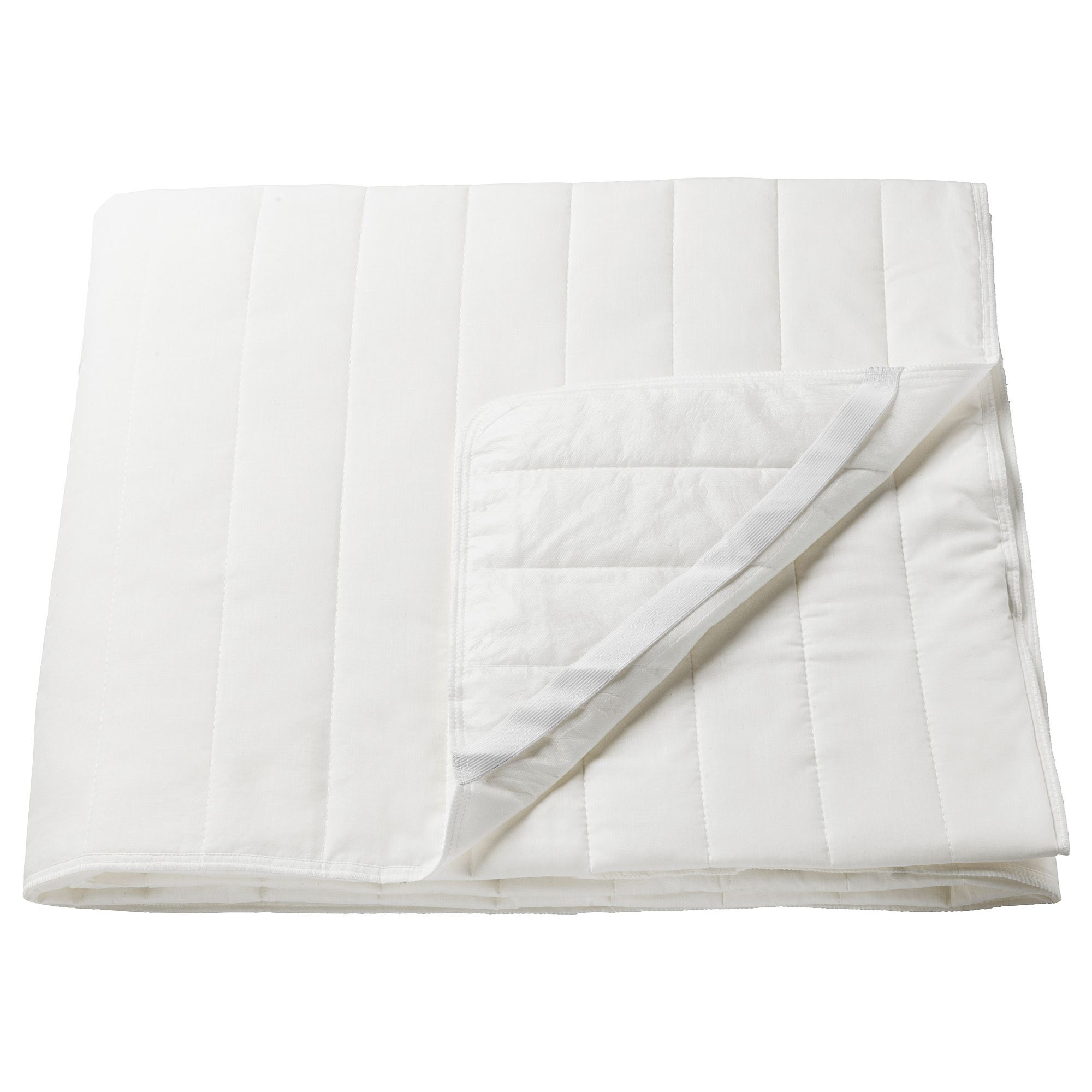 Double Bed Mattress Cover Angsvide Mattress Protector White 140x200 Cm Ikea Home Textile