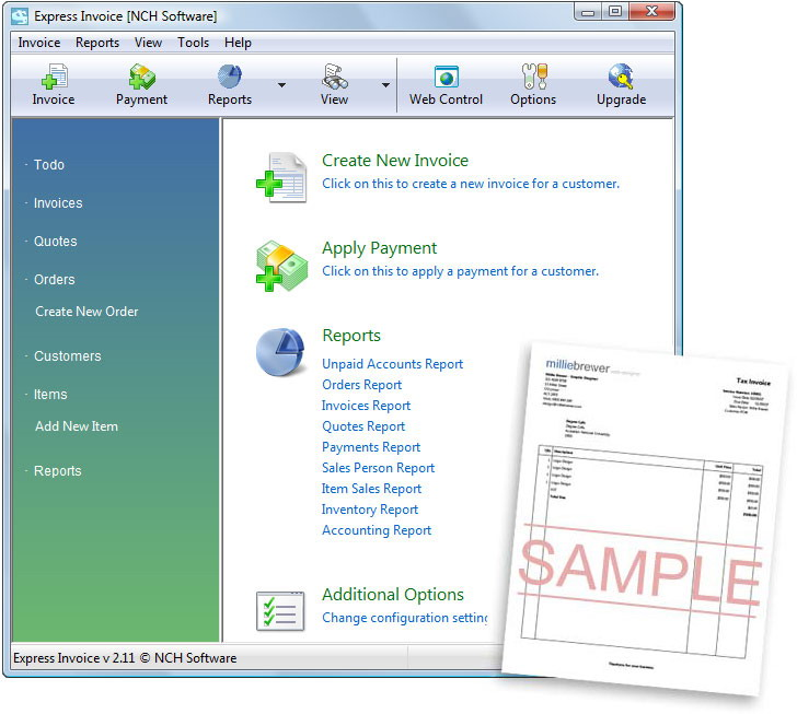 Express Invoice Free Professional Invoicing Software