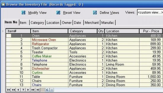 Free Home Inventory Software Household Register 2011