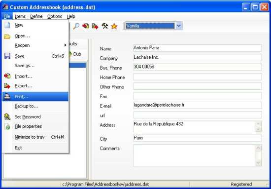 5 Free Address Book Software - software for address book