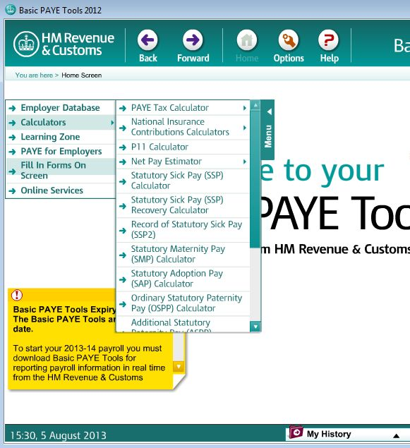 Free UK Payroll Tax Calculator Basic PAYE Tools - payroll tax calculator