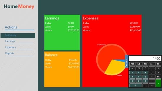 Windows 8 Expense Tracker App Home Money