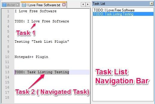 Task List Notepad++ Todo Task List Plugin