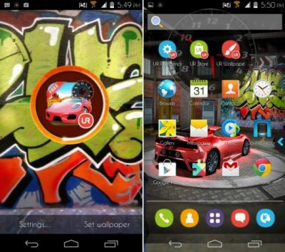 Android Launcher With 3D Live Wallpapers