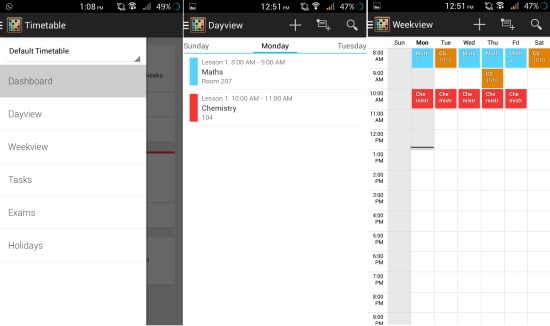 Free Timetable App for Android To Manage Classes, Exams, Assignments