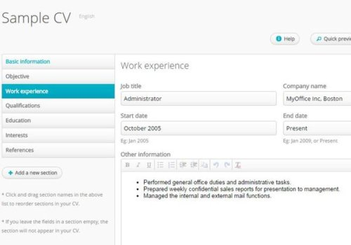 resume maker extension