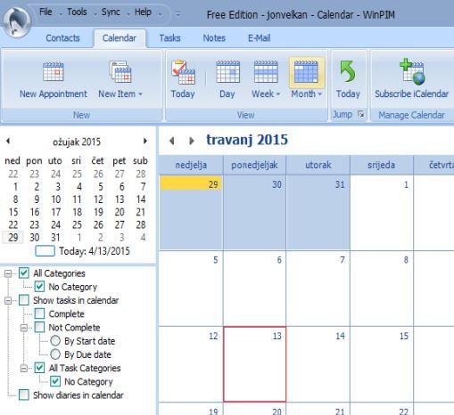 best free windows calendar