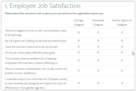 5 Free Websites To Take Employee Satisfaction Surveys - sample employee satisfaction survey