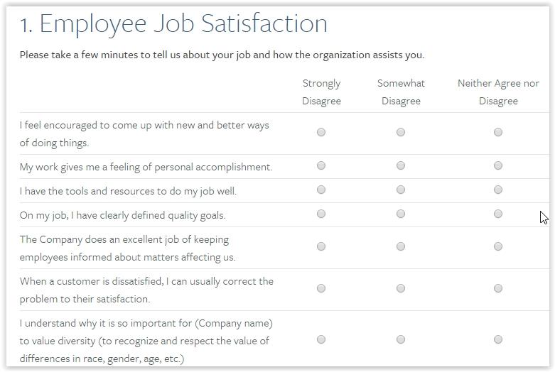 free employee satisfaction survey template - Onwebioinnovate - sample employee satisfaction survey