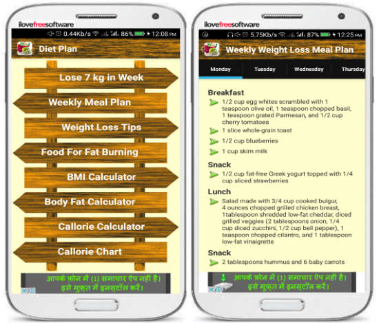 5 Free Android Weight Loss Apps