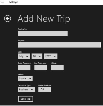 3 Free Windows 10 Mileage Logger Apps - free mileage app