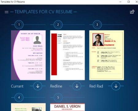 Free Windows 10 Resume Builder App with Preset Resume, CV Templates - Resume Template App