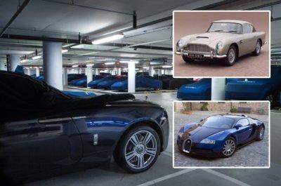 Supercars beneath London in Windrush garage including Ferraris, Aston Martins and Bugattis ...