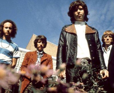 American rock group The Doors posed in Germany in 1968 ...