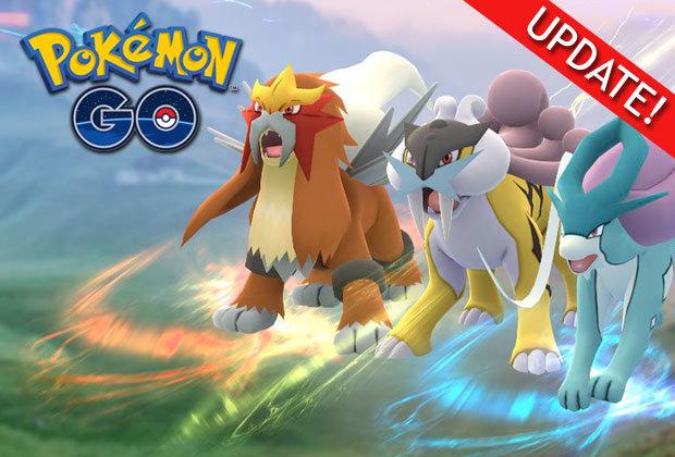 Pokemon Go Update Entei Suicune Raikou Legendary Raid News Ps4