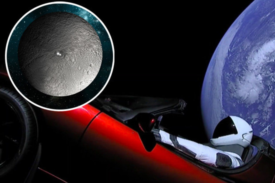 Elon Musk Car In Spac Wallpaper Spacex Elon Musk S Tesla Bound For Ceres Due To Going Off
