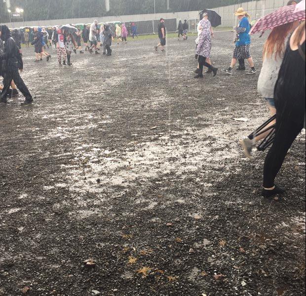 Rain at Download