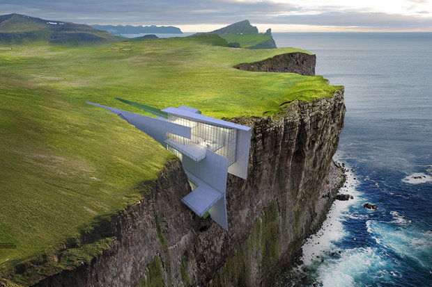 Wallpaper Falling Off Ceiling Cliff Hotel With Breathtaking Sea Views Built Into Cliff