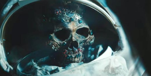 A skeleton in the Blackstar video