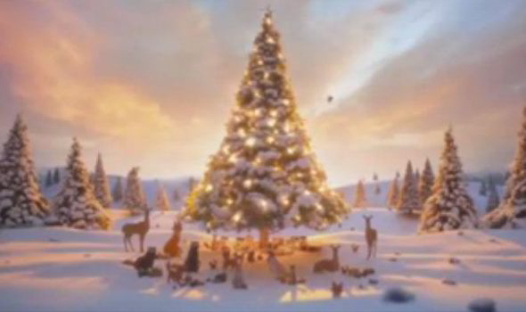 Fall Woodland Creatures Wallpaper Video John Lewis Christmas Bear And Hare Advert Revealed