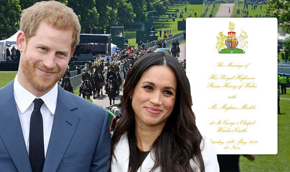 Royal wedding order of service What is the royal wedding schedule