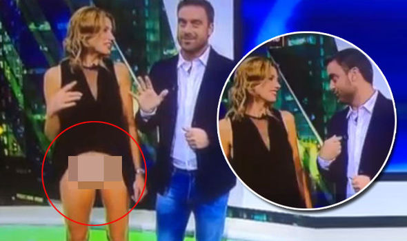 News Reporter Alina Moine Flashes Her Underwear To The