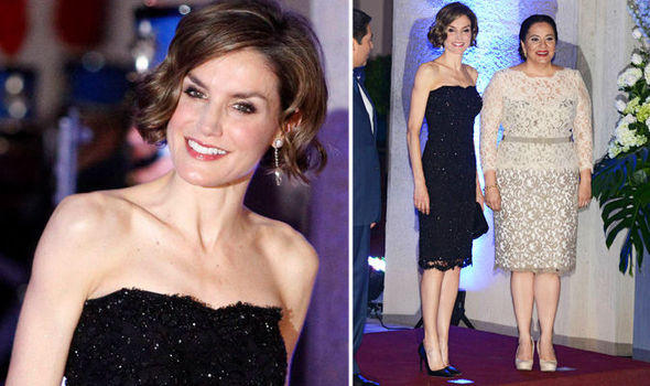 Of spain dazzled in little black dress on the red carpet last night