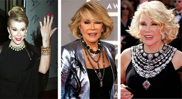 Joan Rivers39 Red Carpet Style The Comedian39s Trademark