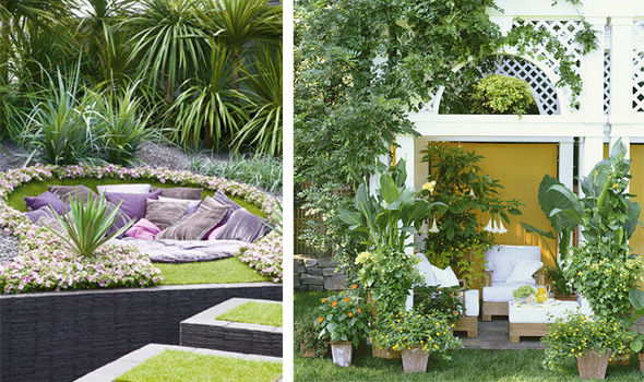 Garden Design Ideas For Small Triangular Gardens Alan Titchmarsh's Tips On Creating A Hidden Hideaway