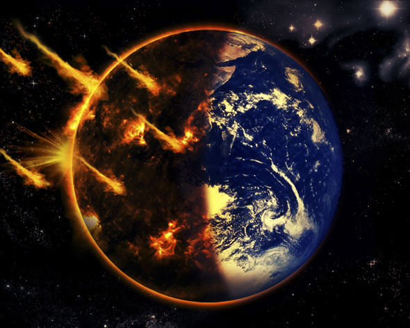 Chaos Wallpaper Hd Earth Being Pummelled By Debris Of Asteroid Collision That