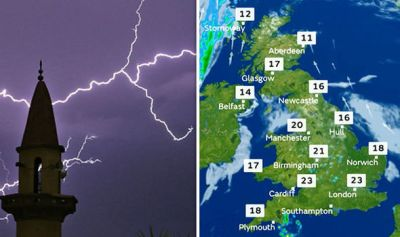 BBC Weather forecast: Temperatures to drop and thunderstorms to hit UK this weekend | Weather ...