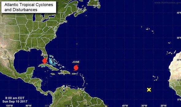 Hurricane Irma NOAA map update shows THIRD hurricane threat behind