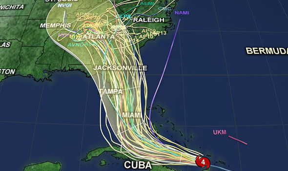 Hurricane Irma path update Spaghetti models warns of Florida hit
