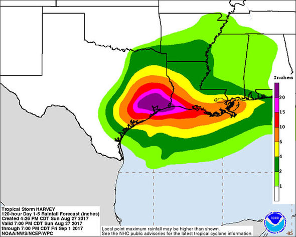Hurricane Harvey flood maps Is your area in danger of being flooded