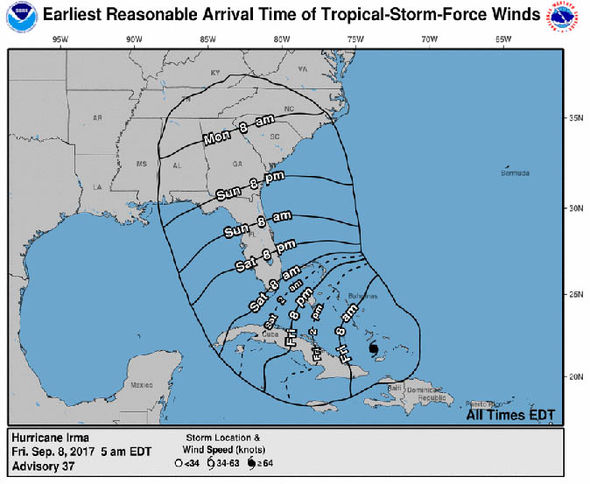 When will Hurricane Irma hit Florida? Path update as Irma heads