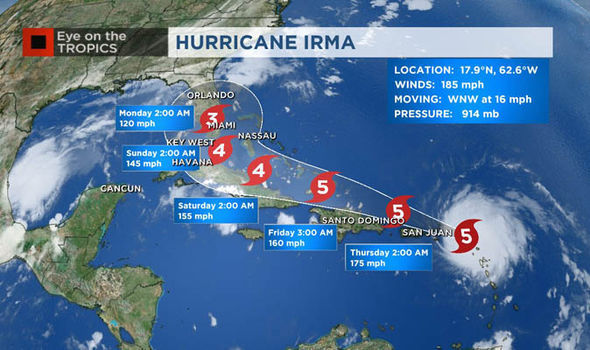 Hurricane Irma path LIVE UPDATES Irma track heads for Florida as it