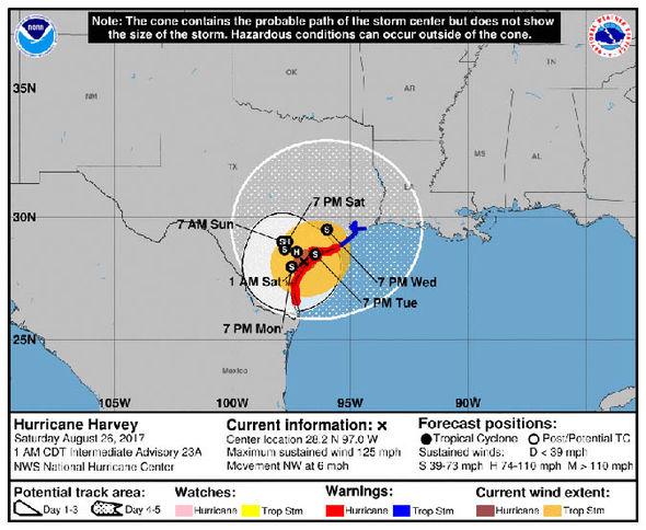 Hurricane Harvey path LIVE UPDATES Hurricane makes landfall in