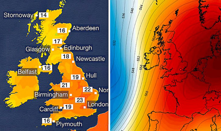 Air Travel Uk Weather Bbc Weather Heatwave To Last Until The Weekend As