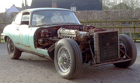 Classic cars E-Type Jaguar left to rust for decades for sale for